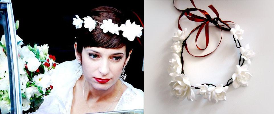 Свадебное украшение: мини-диадема для принцессы