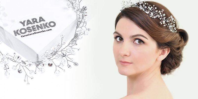 Веточка и диадема — свадебное украшение для волос